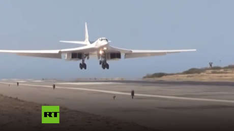 video bombarderos estratégicos rusos tu-160 aterrizan venezuela