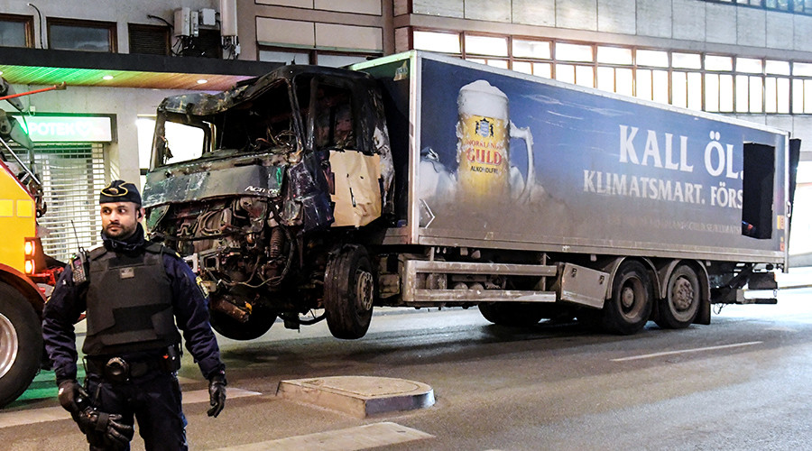 Police 'can't confirm' reports of explosives found in Stockholm attack truck