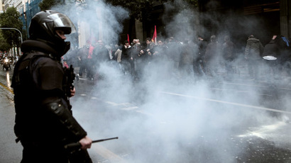 Greek protesters, police clash during anti-austerity rally