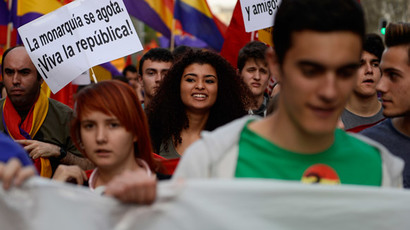 Hundreds take part in Madrid anti-monarchy march