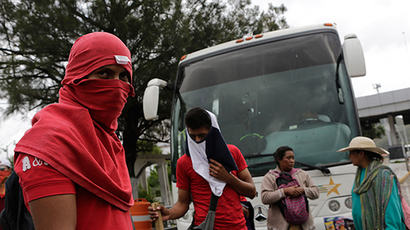 Mexico protesters seize airport in outrage over student massacre
