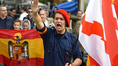 Far-right Spaniards commemorate Franco's death
