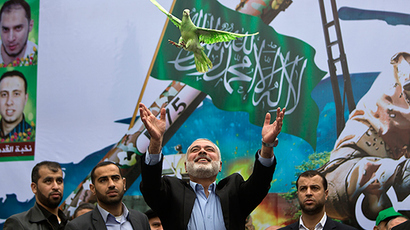 Thousands of Hamas supporters march in Gaza