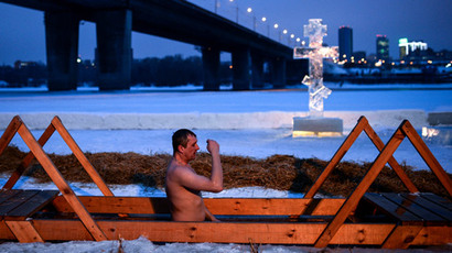 Russians take Epiphany ice dip challenge