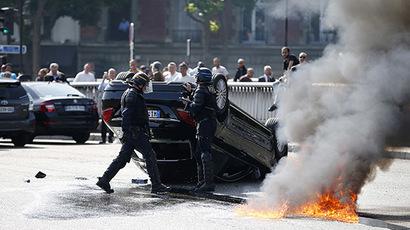Anti-Uber Protest Stops France