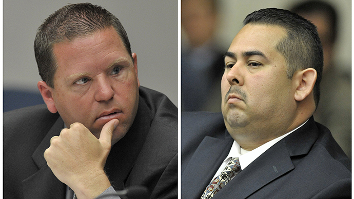 A combination photo shows Fullerton police officers Jay Cicinelli (L) and Manuel Ramos (Reuters / Joshua Sudock)