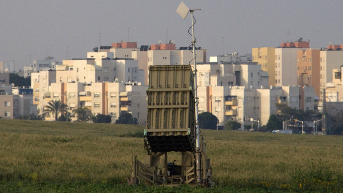 "An ""Iron Dome"" short-range missile defense system in Ashkelon, Israel (AFP Photo / Jack Guez)"