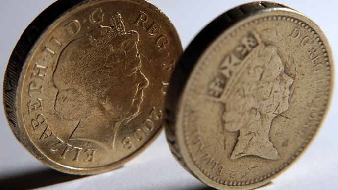 British one pound coins  (AFP Photo/Ben Stansall)