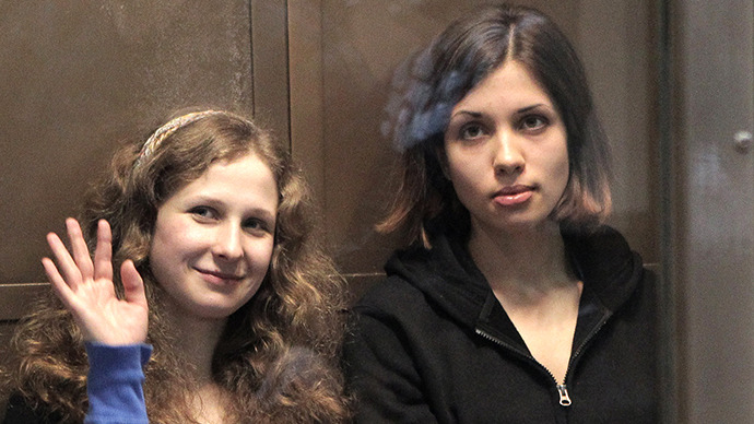 Pussy Riot punk band members Maria Alekhina (left) and Nadezhda Tolokonnikova. (RIA Novosti / Andrey Stenin)