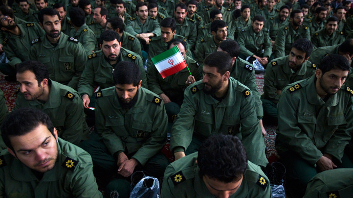 Iranian Revolutionary Guards mourners (Reuters / Raheb Homavandi)