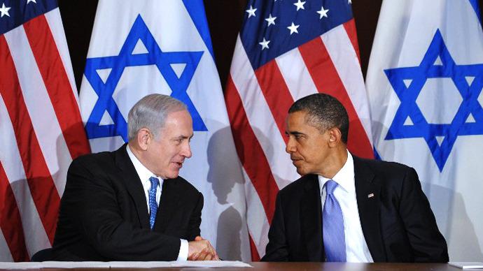 US President Barack Obama shakes hands with Israeli Prime Minister Benjamin Netanyahu. (AFP Photo / Mandel Ngan)