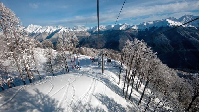 Top view of Rosa Khutor Alpine ski resort (RIA Novosti / Anton Denisov)