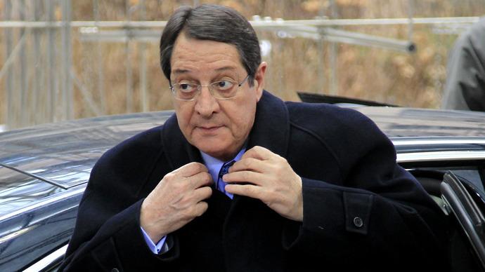 Cyprus' President Nicos Anastasiades. (Reuters / Yves Herman)