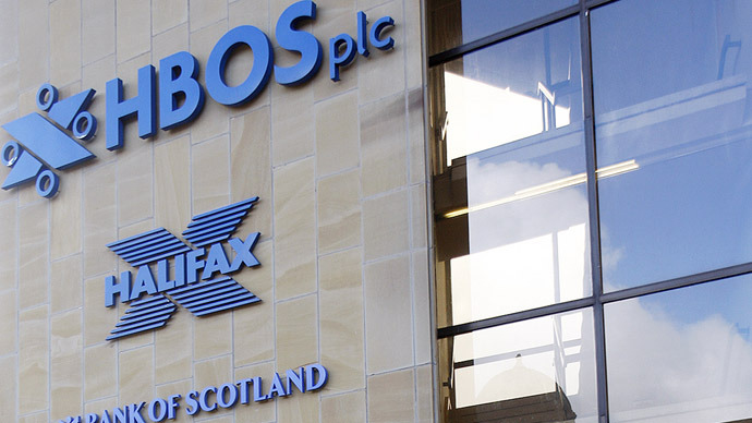The headquarters of the Halifax Bank of Scotland (HBOS) in Halifax in west Yorkshire (AFP Photo)