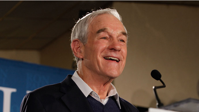 Former US Representative Ron Paul (R-TX) (Andrew Burton/Getty Images/AFP)