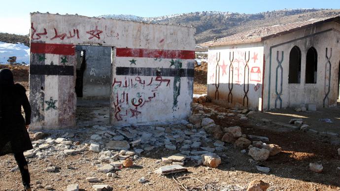 Syrian village of Asal al-Ward, near the Lebanese-Syrian borders (Reuters / Stringer)