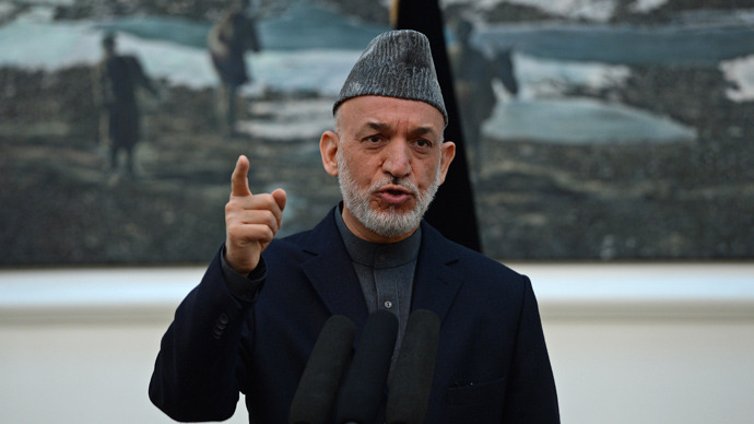Hamid Karzai (AFP Photo / Massoud Hossaini)
