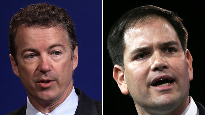 Senator Rand Paul,Senator Marco Rubio.(AFP Photo / Alex Wong)
