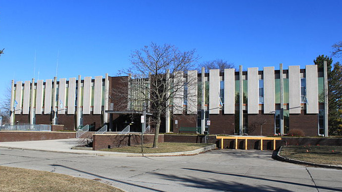 Westland Michigan City Hall. (Image from wikipedia.org / photo by Dwight Burdette)