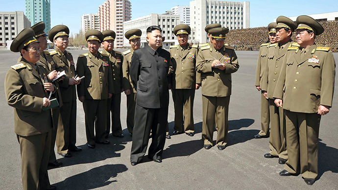 North Korean leader Kim Jong-Un (C). (AFP Photo / KCNA)