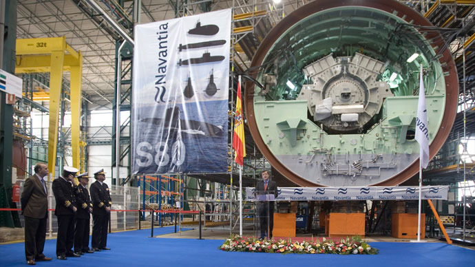 Navantia demonstrates the main electric motor for the first S-80 class submarine (Photo: navantia.es)