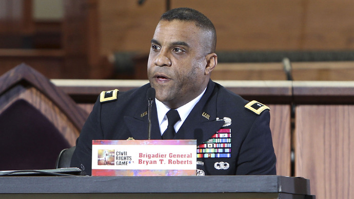 Brigadier General Bryan T. Roberts (AFP Photo /  Mike Zarrilli)