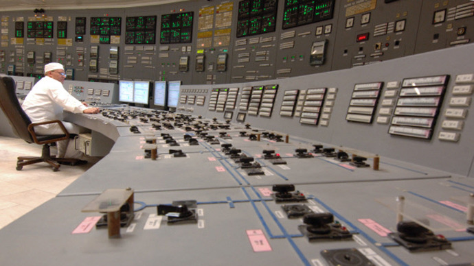 A power-generating unit control panel at Kursk Nuclear Power Plant in the town of Kurchatov (RIA Novosti / Sergey Pyatakov)