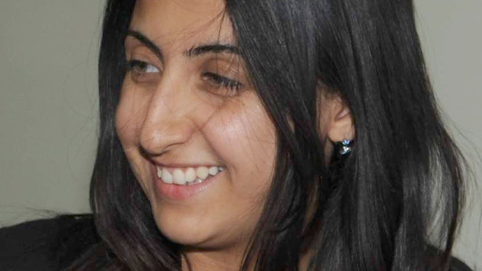 An undated handout picture released by the Syrian Arab News Agency (SANA) on May 27, 2013 shows Yara Abbas, 26-years-old, a reporter for Syria's official television station Al-Ikhbariya (AFP Photo)