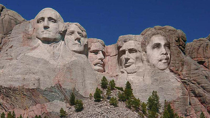 image from Sculpt Barack Obama in Mount Rushmore facebook community