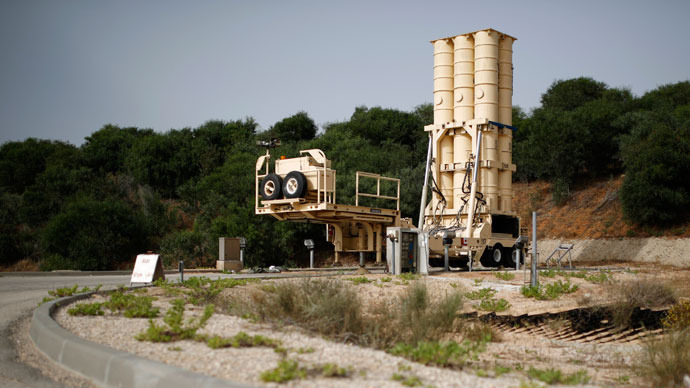 An Arrow II battery, a U.S.-backed Israeli missile shield, is seen at Palmachim base, south of Tel Aviv May 29, 2013.(Reuters / Amir Cohen)