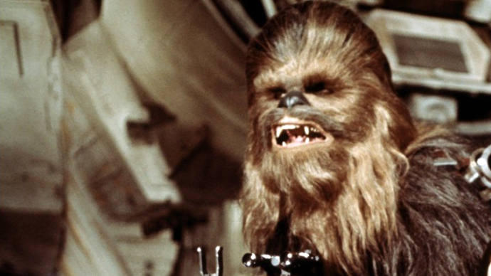Chewbacca as shown in Star Wars. (Image from kinopoisk.ru)