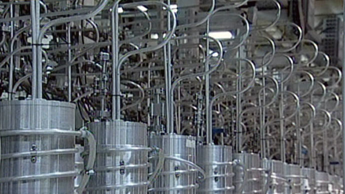 Centrifuges at Iran's Nantanz nuclear site.(AFP Photo / Press TV)
