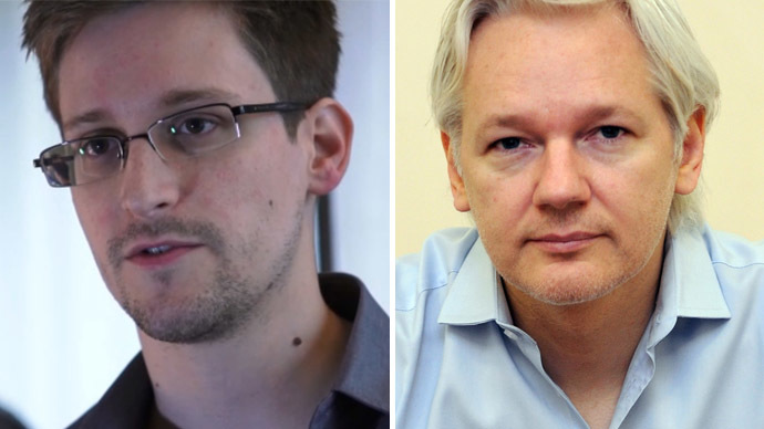 Edward Snowden and Julian Assange (AFP Photo)
