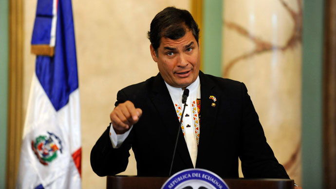 Ecuadorian President Rafael Correa.(Reuters / Ricardo Rojas)