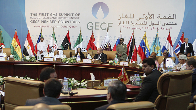 A general view of the opening session of the first Gas Exporting Countries Forum (GECF) summit in Doha November 15, 2011. (Reuters / Mohammed Dabbous)