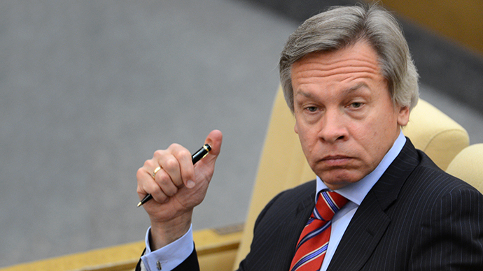 Chairman of the State Duma Committee for International Affairs Alexei Pushkov (RIA Novosti / Vladimir Fedorenko)