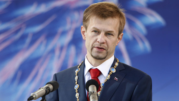Yevgeny Urlashov inaugurated as Yaroslavl Mayor. (RIA Novosti)