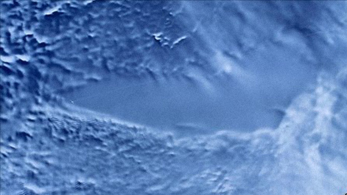 RADARSAT image of Lake Vostok, Antarctica. (NASA)