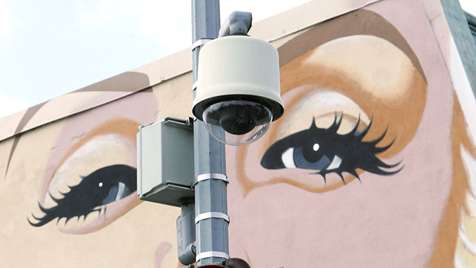 A security camera in Washington, DC (AFP Photo / Paul J. Richards)