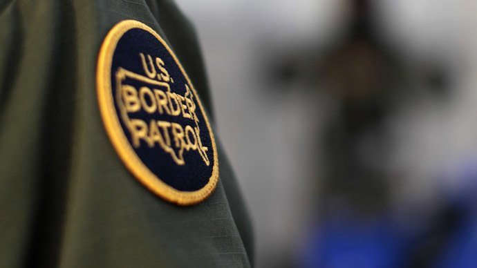 A logo patch is shown on the uniform of a U.S. Border Patrol agent (Reuters/Mike Blake)