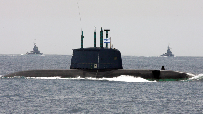 "Israeli submarine ""Dolphin"" (AFP Photo / Gali Tibbon)"