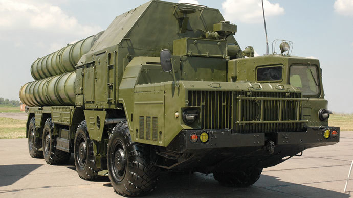 An S-300 surface-to-air missile system.(RIA Novosti / Uriy Shipilov)