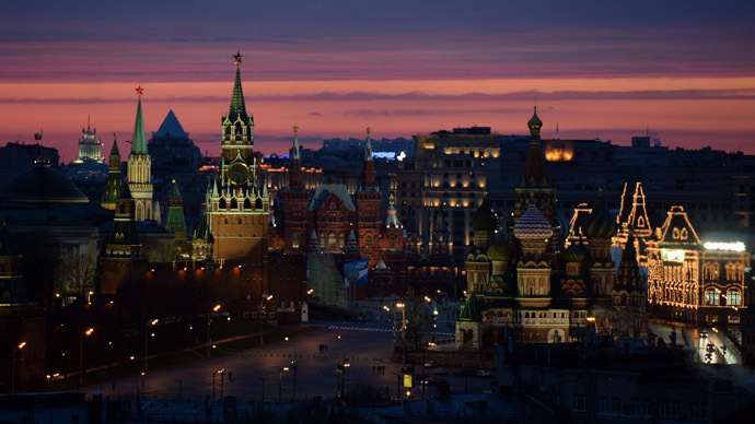 A view at the Moscow Kremlin, Historical Museum, Red Square and Saint Basil's Cathedral. (RIA Novosti/Alexey Filippov)