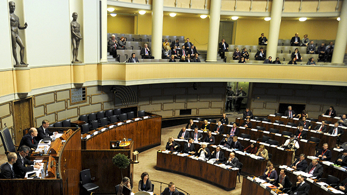 The Finnish Parliament in Helsinki (AFP Photo / Markku Ulander)