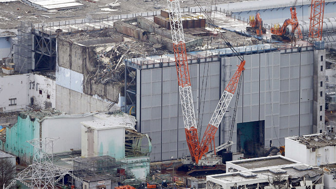 An aerial view shows the No.3 reactor building at Tokyo Electric Power Co. (TEPCO)'s tsunami-crippled Fukushima Daiichi nuclear power plant in Fukushima Prefecture, in this photo taken by Kyodo July 18, 2013. (Reuters/Kyodo)