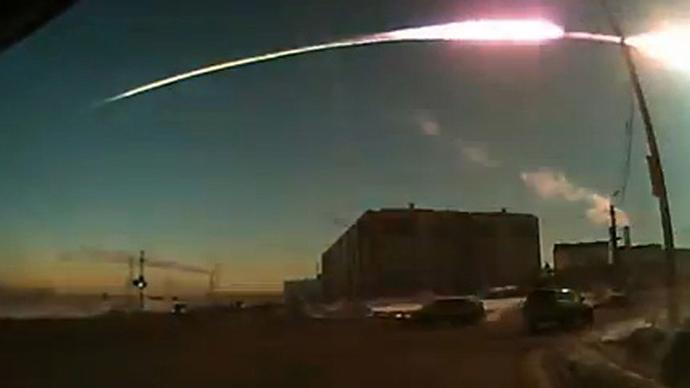 The Chelyabinsk meteor trace. (RIA Novosti / Nakanune.RU)