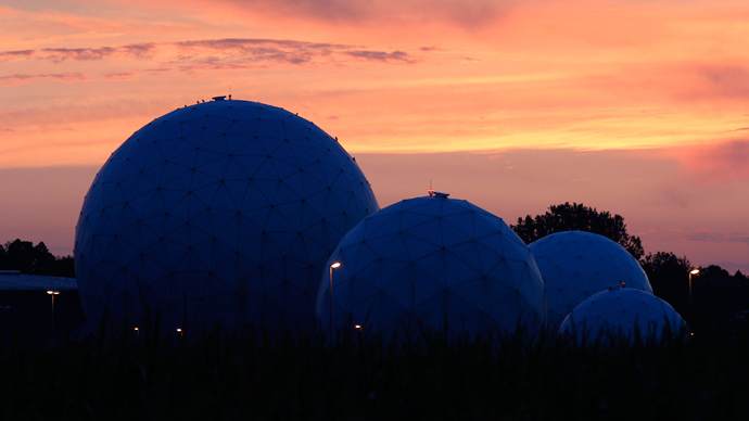 Radomes stand on the former monitoring base of the U.S. intelligence organization National Security Agency (NSA) in Bad Aibling, near Rosenheim, southern Germany  (Reuters / Michaela Rehle)