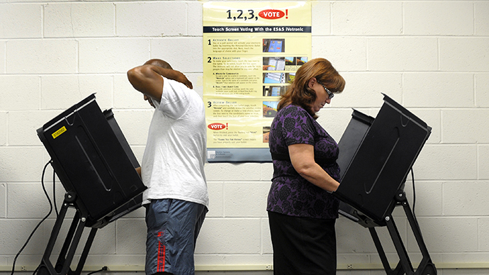 A voting station in Wilson, North Carolina (AFP Photo / Sara D. Davis)