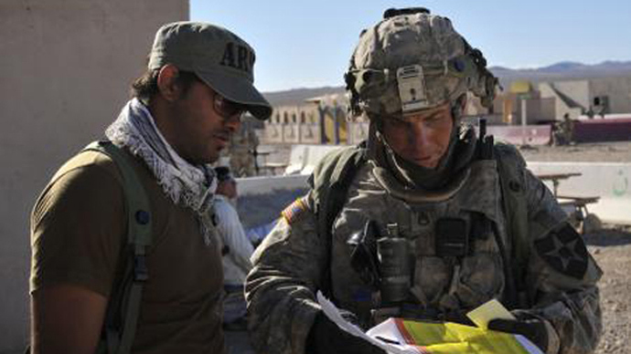 Staff Sgt. Robert Bales (R) is seen during an exercise at the National Training Center in Fort Irwin, California, in this August 23, 2011 (Reuters / Department of Defense / Spc. Ryan Hallock / Handout)