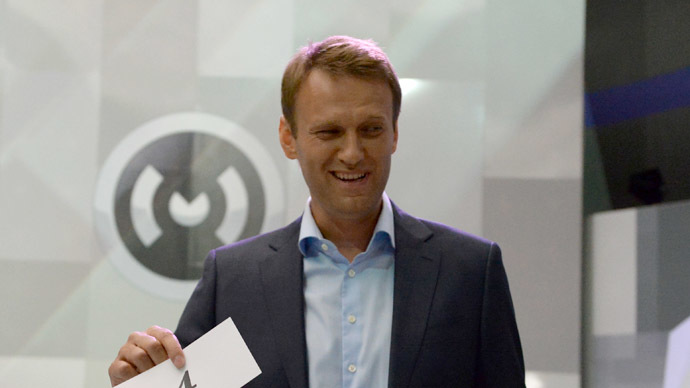Alexei Navalny, Moscow mayoral candidate from the Republican Party of Russia – People's Freedom Party (RPR-PARNAS) (RIA Novosti/Valeriy Melnikov)
